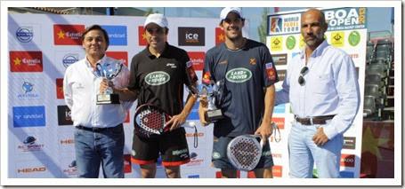 Campeones Lisboa International Open WPT 2013: Juan Martín Díaz y Fernando Belasteguín.