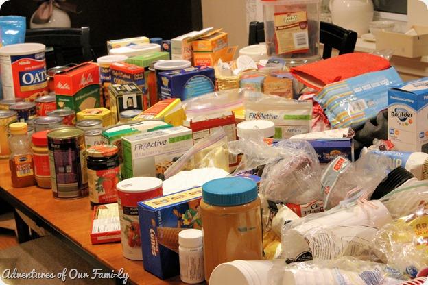 kitchen organization before mess