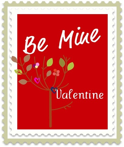 be mine valentine print