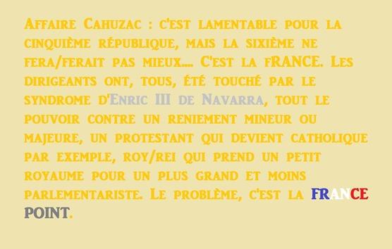 Le problème c'est la France