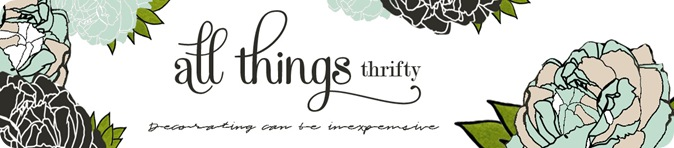 All Things Thrifty Home Decor and Accessories Header