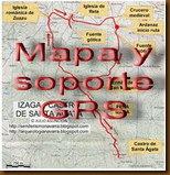 Mapa y soporte GPS - CASTILLO Y SAGRADO CORAZÓN DE SANGÜESA