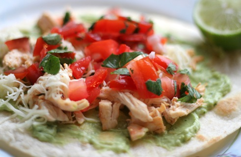 chicken and guac tostada 2