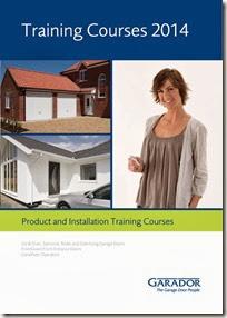 Garador 2014 training course brochure front cover