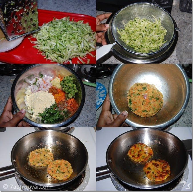zucchini patties process