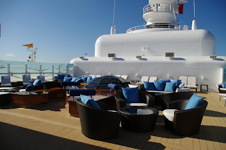 Concierge level guests enjoy a private deck area