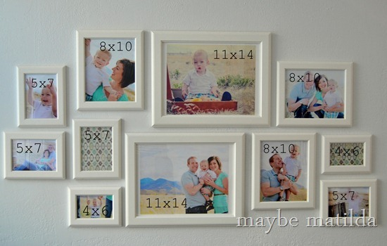 Photo Gallery Wall Setup by maybe matilda