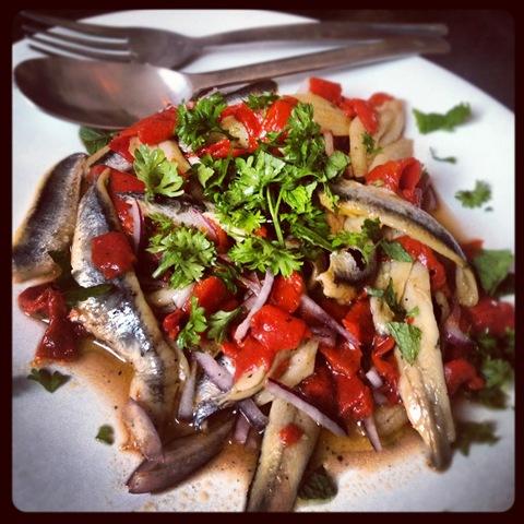 Boquerones salad