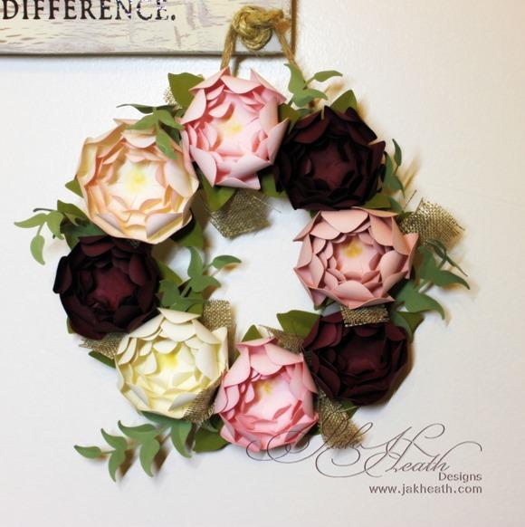 Peony wreath1