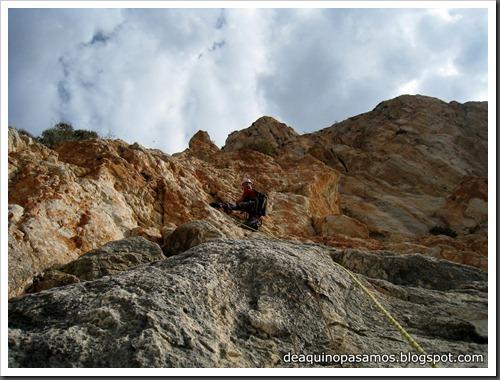 Via Costa Blanca 250m 6c  (6b A0 Oblig) (Peon de Ifach, Alicante) (Fran) 4783