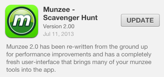 Munzee version 2 for iOS