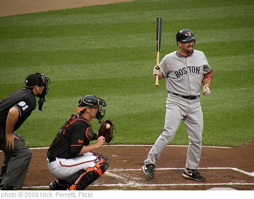 'Kevin Youkilis takes a pitch inside against the Orioles' photo (c) 2009, Nick  Perretti - license: http://creativecommons.org/licenses/by/2.0/