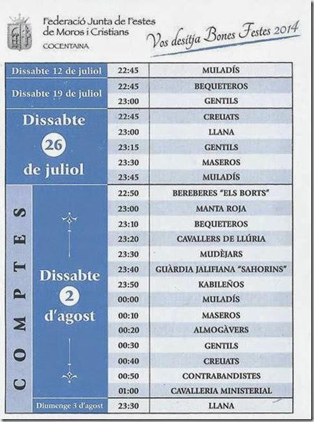 Horari VOLTETES 2014 A