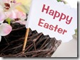 Happy easter sign