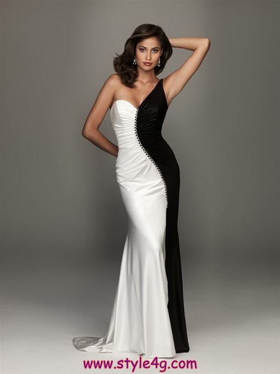 Fantastic Black White Prom Dresses New 2013