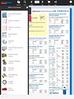 Screenshot of USABlueBook Catalogs