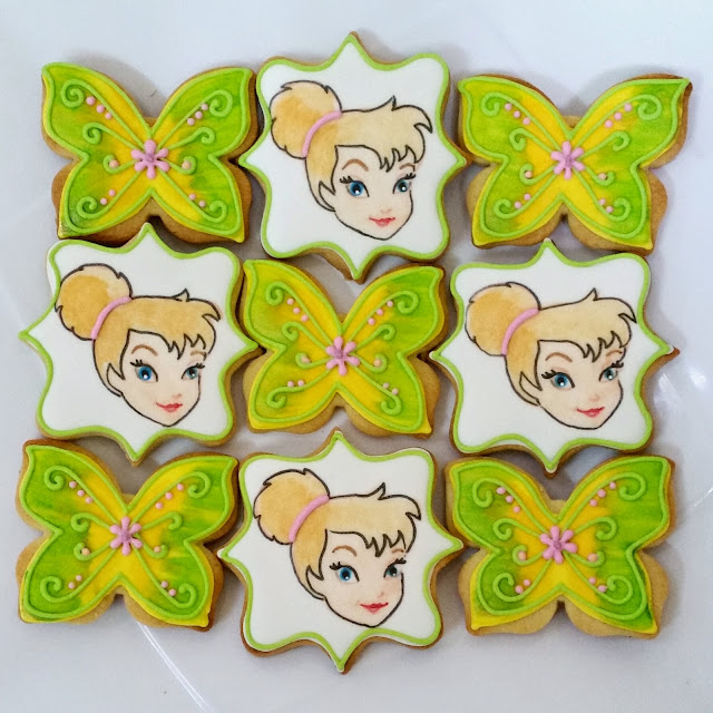 thinkerbell themed cookies