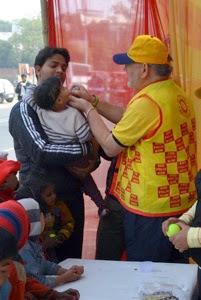 Delhi Camp Paul Vaccinating