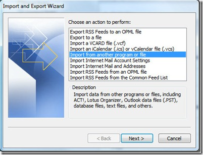 How To Use Import And Export In Outlook 20102