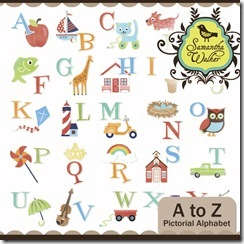 SW A to Z pictorial alphabet