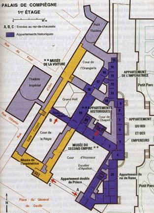 plan palais de Compiègne