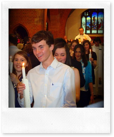 St Pauls Camberley Young People Confirmation Procession