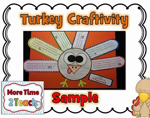 Turkey Word Problem Craftivity Final JPEG TURKEY