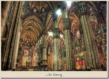 interior katedral milan