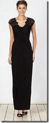 Pierce Fionda Black Lace Bodice Maxi Dress