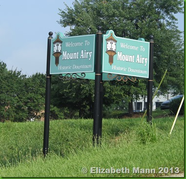 mount airy sign
