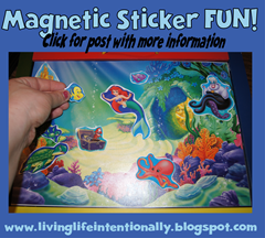 road trip games - magnetic sticker fun