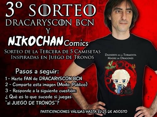 3º Sorteo inspirado en Game of Thrones patrocinado por Dracaryscon BCN y Nikochan Comics
