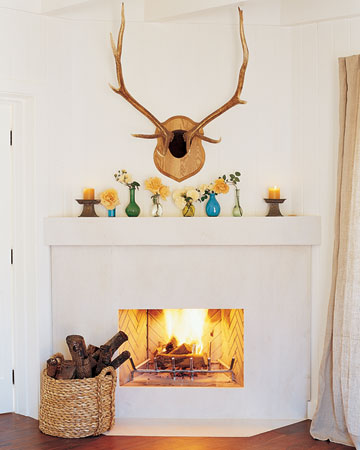 Who wouldn't want to take a seat next to this fireplace?