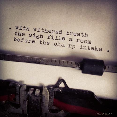 Typewriter spills poetic glimpses milliande 7