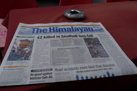 The Himalayan Nepal - accident de autobuz
