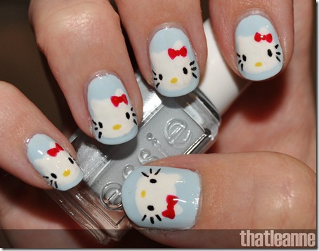 hello kitty nail art final