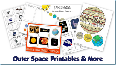 image relating to Space Printable identified as Outer Area Concept Printables Further more - 1+1+1\u003d1
