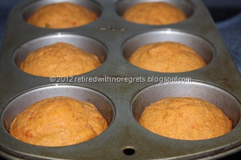 Salsa Flax Corn Muffins - just out of oven