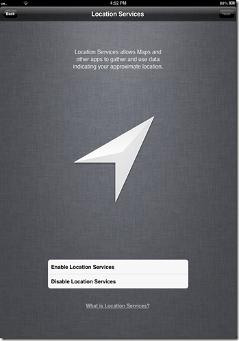 iOS 6 Enable Location Service