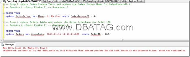 Example of Deadlock | SQL Server Deadlock Script sql server deadlock trace flag sql deadlock trace deadlock trace sql 2012 deadlock trace sql 2005 deadlock trace deadlock sql 2008 deadlock sql 2005