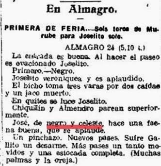 1915-08-24 (p. ElH) Almagro Joselito celeste y oro