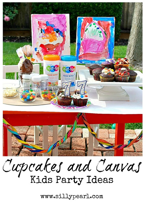 Cupcakes and Canvas Kids Party Ideas - The Silly Pearl #PMedia #showusyourmess #ad