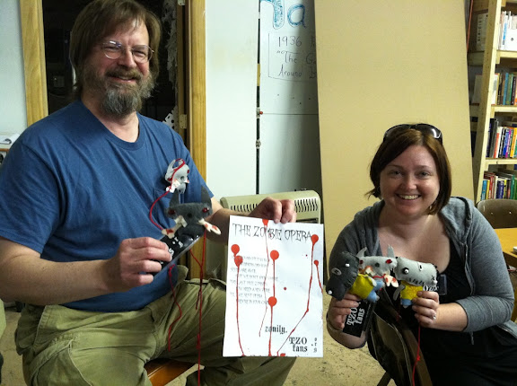 Doug and Mandy of TZO Fans met us at Hack Pittsburgh, where the zombie plushies were created:)