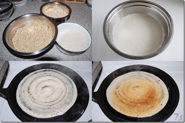 Brown rice dosai process