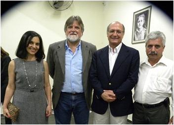 Primeira-Dama Lu Alckmin, Engenheiro Claudio Dias, Governador Geraldo Alckmin e Vereador José Proença