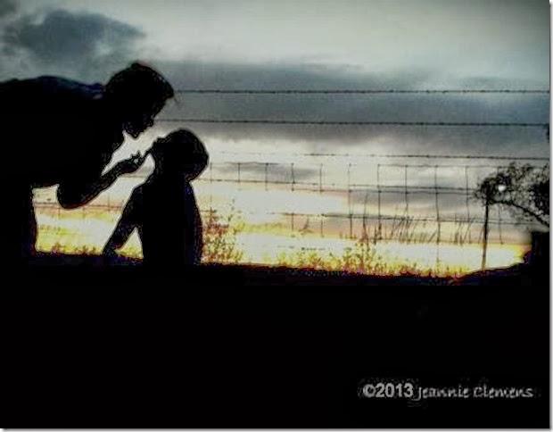 evening kiss