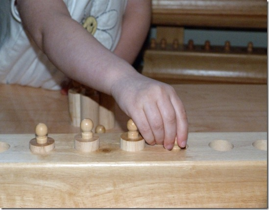 Montessori Knobbed Cylinders at Homeschool Mo 3