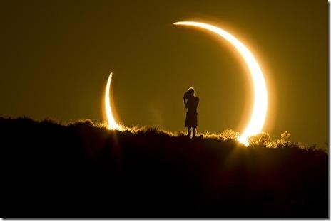 imagini eclipsa solara