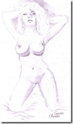 nud simplu in creion