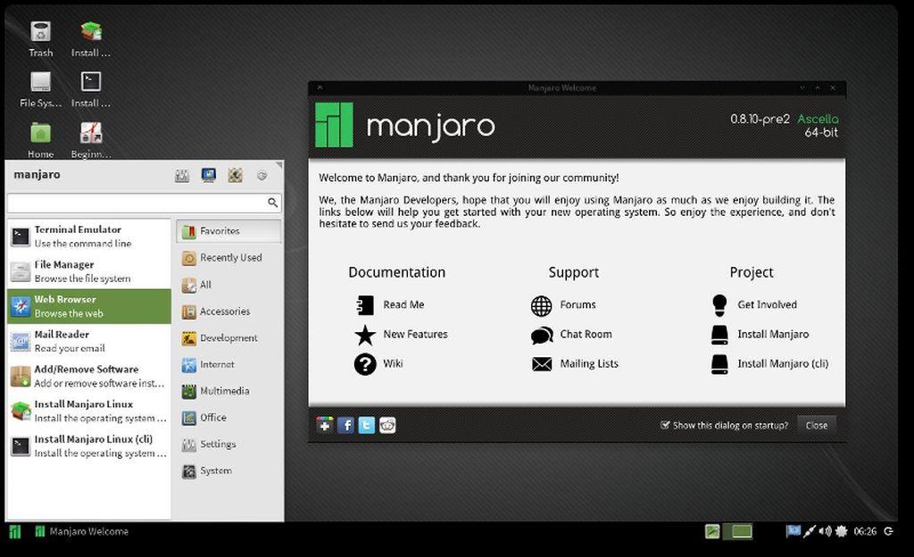 Manjaro 0.8.10 RC